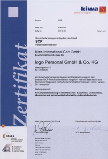 SCP-Zertifikat